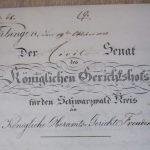 Anklageschrift vom Amtgericht Freudenstadt und dem Gerichtshof Schwarzwaldkreis in Reutlingen
