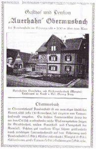 Prospekt Auerhahn um 1927 Blatt 1