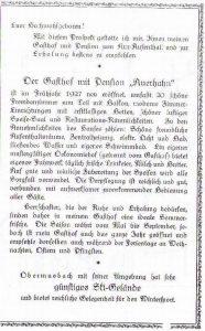 Prospekt Auerhahn um 1927 Blatt 2