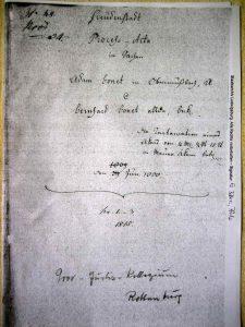 Prozessakte Bernhard gegen Adam Bohnet 1809
