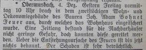 Grenzerartikel vom Brand 1915