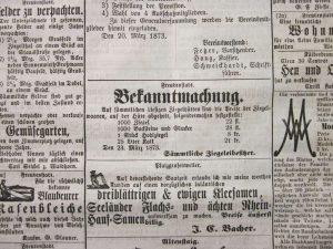 Ziegelpreis 1873