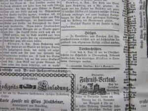 Einsetzung Lehrer Blicklen 1875