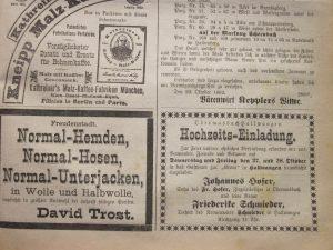 Hochzeit Hofer 1892