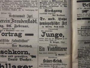 Jungen 1890 als Helfer in der Säge gesucht