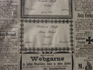 Verlobungsanzeige 1899