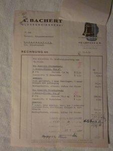 Rechnung Glocke 1949
