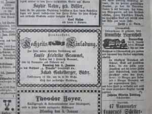 Hausverkauf Januar 1880