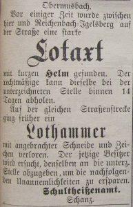 Lotaxt Verkauf 1892