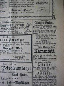 Stangenverkauf 1887