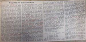 Bericht im Grenzer über den Auerhahn um 1958