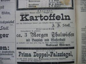 Grundstückkauf 1892