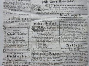 Hausverkauf Reinerzau 1867