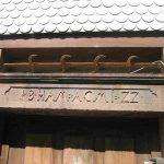 Türsturz vom ehemaligen Gasthaus Hirsch von 1822, dem Jahr des großen Brand