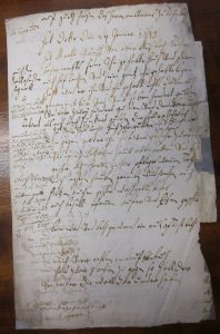 Kaufvertrag von 1719