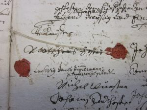 Kaufbriefsiegel Hofer 1721