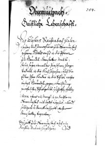 Lagerbuch 1667 Beerdigungen in Dornstetten