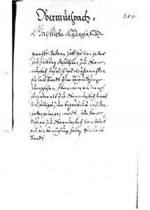 Lagerbuch 1667 Friedhof