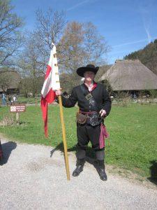 Landsknecht mit Fahne