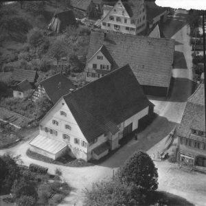 Luftaufnahme Gasthof Hirsch um 1958