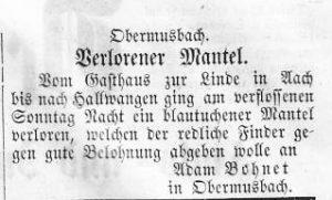 Mantel verloren 1858