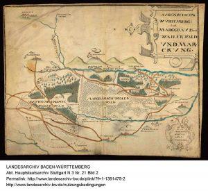 Karte Weiler Wald 1619
