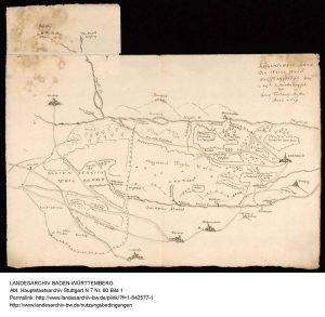 Skizze Weiler Wald 1619
