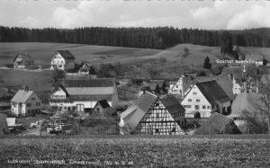 Ansichtskarte mit Hirsch