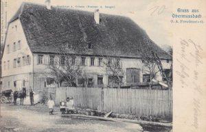 Ansichtskarte vom Ochsen von 1908