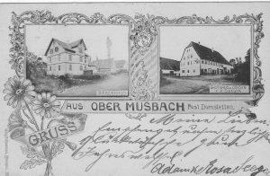 Ansichtskarte von 1899, links der Auerhahn