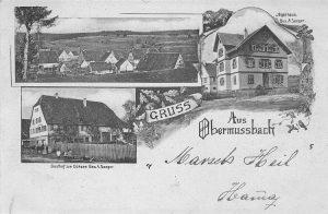 Ansichtskarte vom Ochsen und Jägerhaus