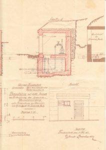 Pumpenstation für die Trinkwasserversorgung in Obermusbach von 1921