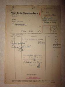 Rechnung Signalhorn 1949