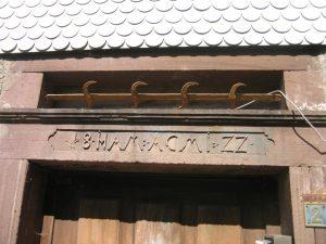 Türsturz Hirsch 1822