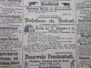 Hausverkauf 1900