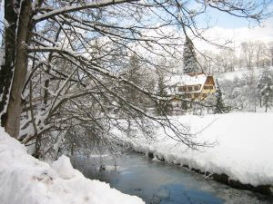 Wiesenbauerhof im Winter von der Sägemühle aus gesehen 2006