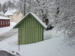 Waage im Winter