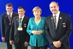 Bundeskanzlerin Merkel bei der Preisvergabe