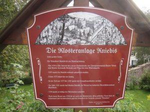 Hinweistafel Kloster Kniebis