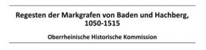 Regesten der Markgrafen 1050-1515