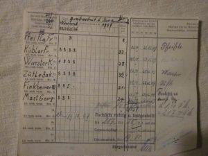 Abrechnung Lohnarbeit  1949