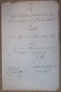 Prozessakte 1840