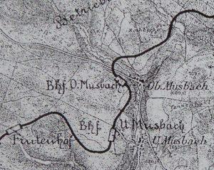 Lage der Bahnhöfe in Musbach