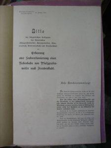 Bittschrift-Eröffnung 1901
