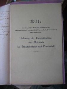 Bittschrift - Deckblatt 1901