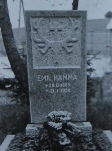 Grabstein Emil Hamma Junior