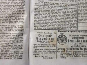 Harzbaumverpachtung 1875