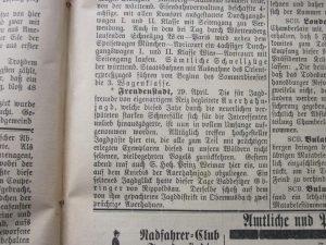 Auerhahnjagd in Obermusbach 1896