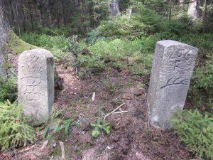 Schöner Stein von 1606 und die Nr. 206