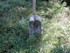Der Grenzverlauf ist durch die Einkerbung oben auf dem Stein gezeichnet